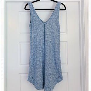 LOFT heathered blue sleeveless sundress